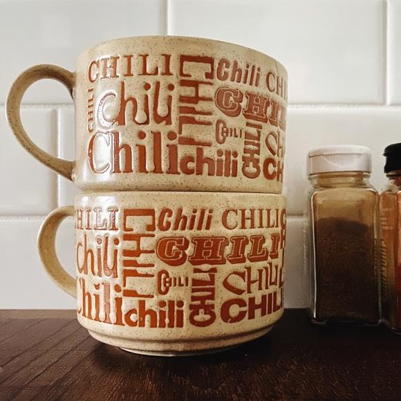 Vintage Ceramic MCM Chili Bowls EUC
